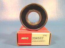MRC 204SZZ Single Row Radial Bearing (SKF 6204 2RS,Timken/Fafnir 204PP, NSK)