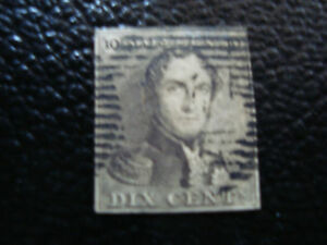 BELGIQUE-timbre-yvert-et-tellier-n-1-obl-A6-stamp-belgium