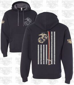 United-States-Marine-Hooded-Sweatshirt-Hoodie-Corps-USMC-Military-T-Shirt
