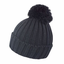 4ba838604cd Chunky Knit Hat Winter Woolly Bobble Ski Mens Womens Ladies Cable Beanie  R369X