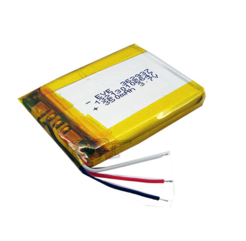 10 pcs 3.7V 350 mAh Li-polymer Rechargeable Battery Li-Po 3wire 362937 for mp4