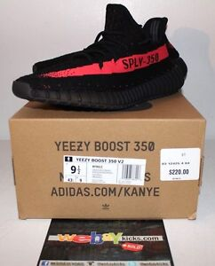 adidas Yeezy Boost 350 V2 Black Red Bred Bb6372 Infant SPLY