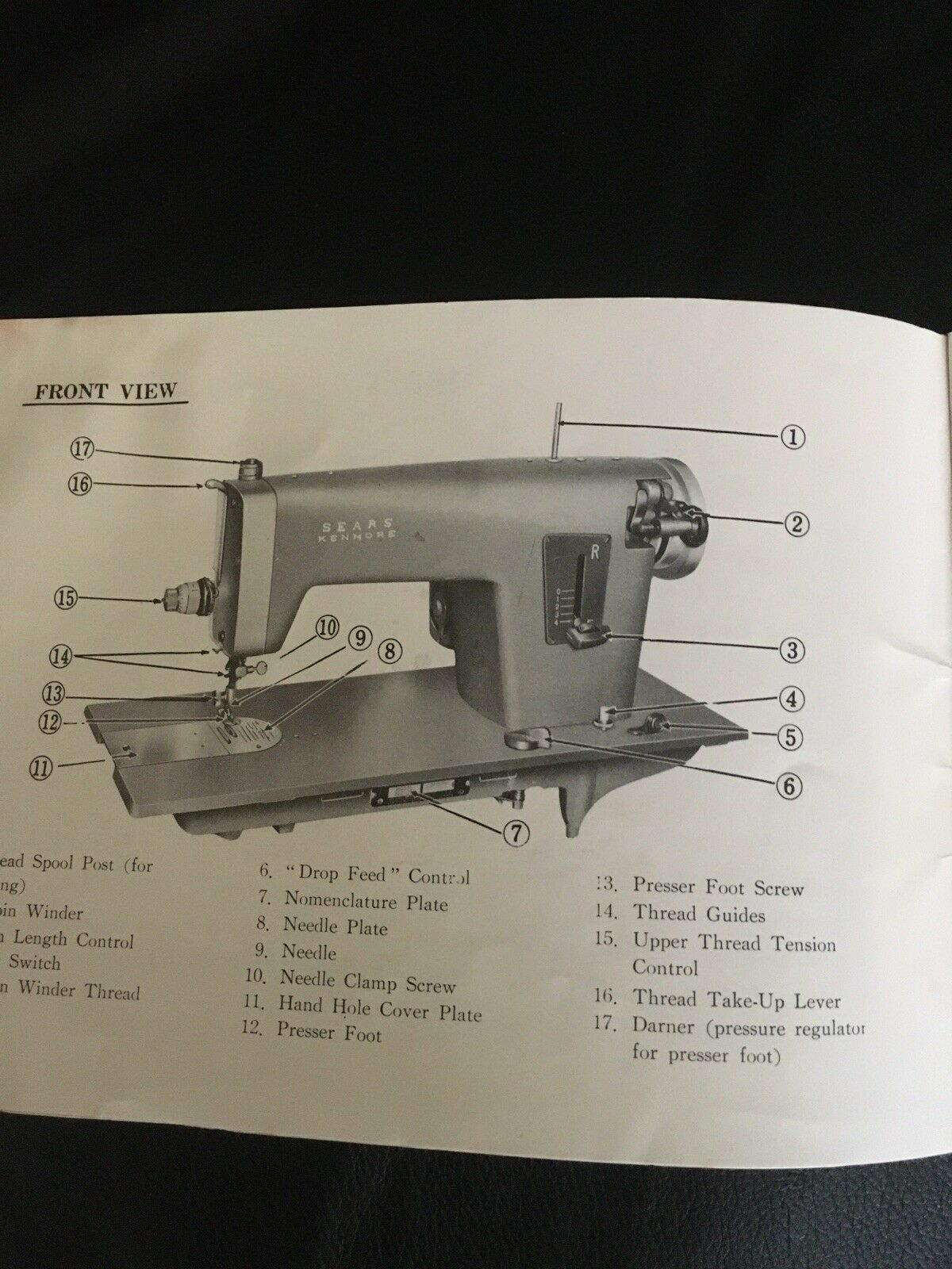 s l1600 - Vintage Original Sears Kenmore Sewing Machine Instruction Book For Model 1101