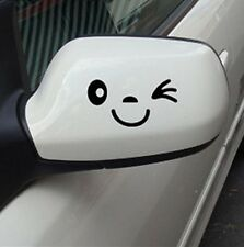 Smile Face Wink Car Wing Door Mirror Funny Stickers Decal Novelty Gift Jian