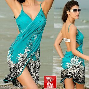 f07c6e8cc9708 Sexy Quality Womens Bikini Cover-Up Beach Sarong Wrap Dress Floral ...