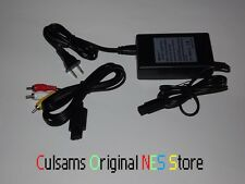 BRAND NEW GAMECUBE CONSOLE AC ADAPTER POWER SUPPLY & AV CABLES WITH GUARANTEE