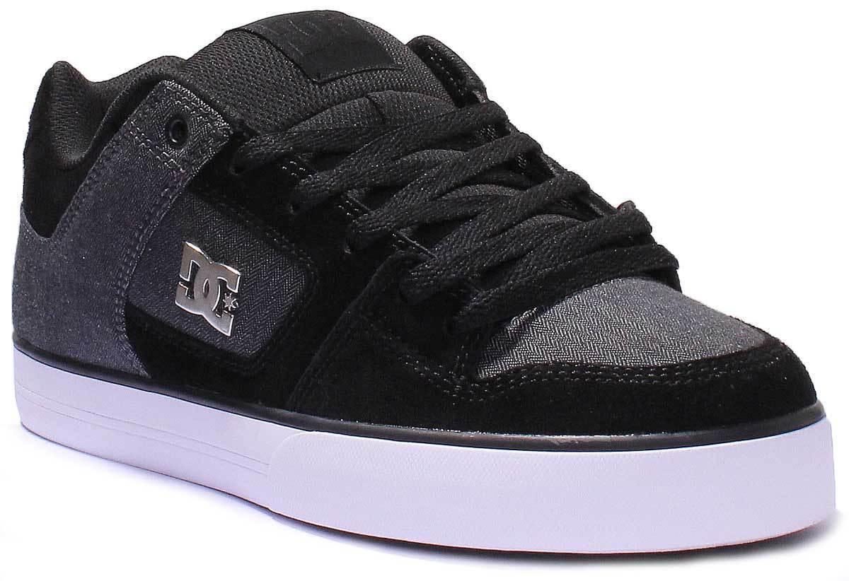 DC Shoes Pure Se Men Nubuck Leather Black Charcoal Trainers