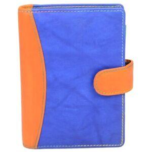 bind-Systemplaner-A7-Terminplaner-Kalender-2020-Organizer-blau-orange-Leder-T78