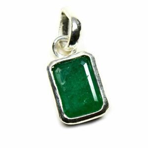 Echte-Smaragd-Silber-Anhanger-Charm-5-Karat-Chakra-Heilung-Mai-Edelstein-Schmuck