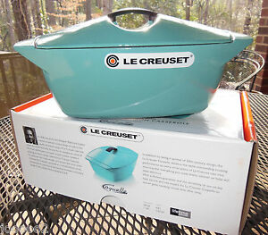 Image Is Loading Le Creuset Raymond Loewy Coquelle 5 Qt Turquoise