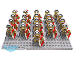 21PCS-Medieval-Castle-Lord-Red-Lion-Milan-Helm-Knight-Army-Building-Blocks-Toys