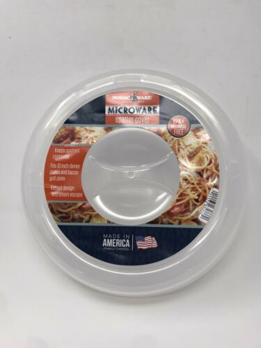 """Nordic Ware 10 3//4""""Home Kitchen Dining Microwave Plate Food Splatter Cover RC"""