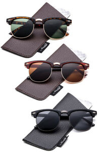 Kids-Polarized-Lens-Sunglasses-Half-Rimmed-Top-Gun-Inspired-with-Protective-Case