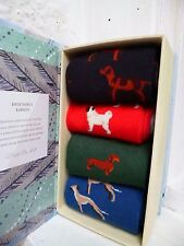 Thought Gift Pack Box 4 Bamboo Socks Happy Dogs Mixed Mens Womens UK 7-11
