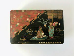 Antique Japanese Hand Painted Box