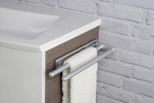 Fackelmann 86953 Handtuchhalter ausziehbar 2-armig Aluminium