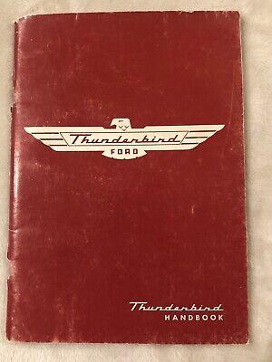 Vintage Collectible 1955 Ford Thunderbird Car Handbook ...
