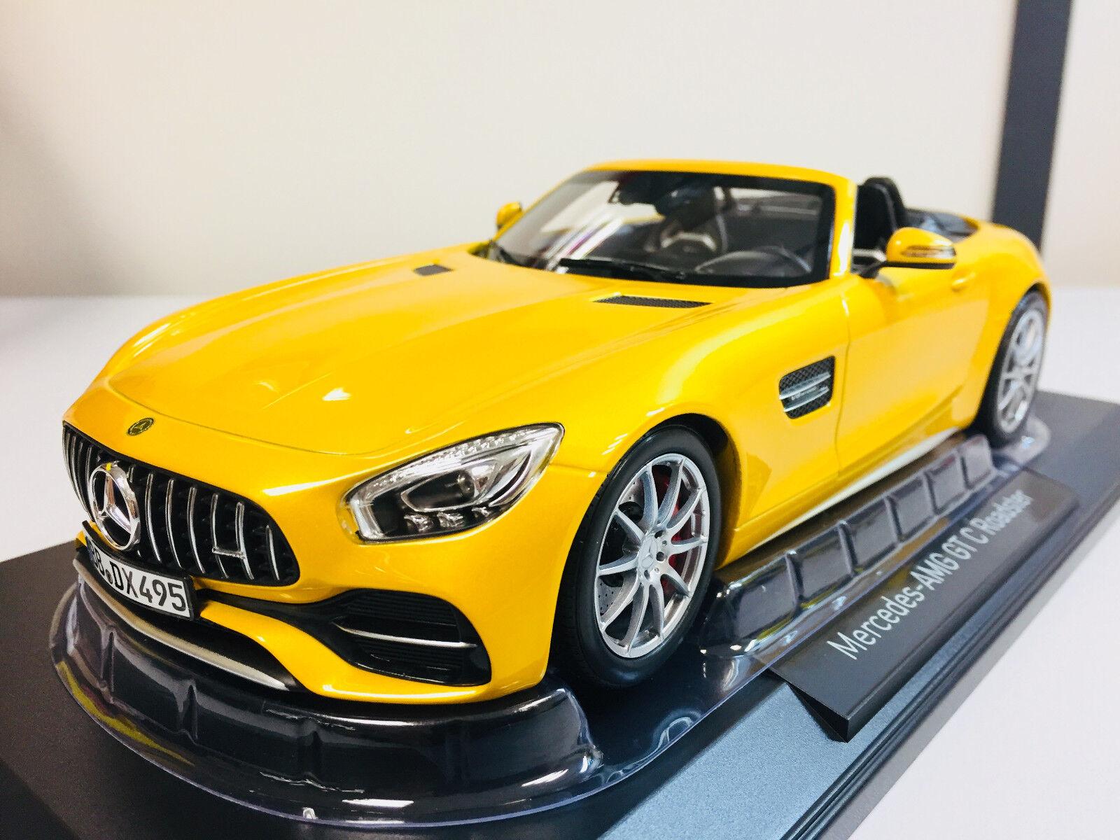 Norev Mercedes Benz AMG AMG AMG GT-C Roadster 2017 amarillo Métallique 1 18 183451 7 781e79