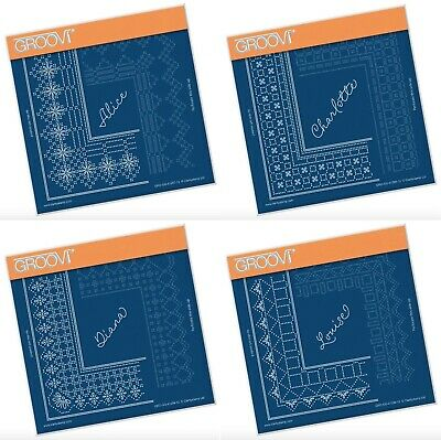 Clarity Stamps Groovi Parchment Embossing Kings Lace Grids or Alphabets
