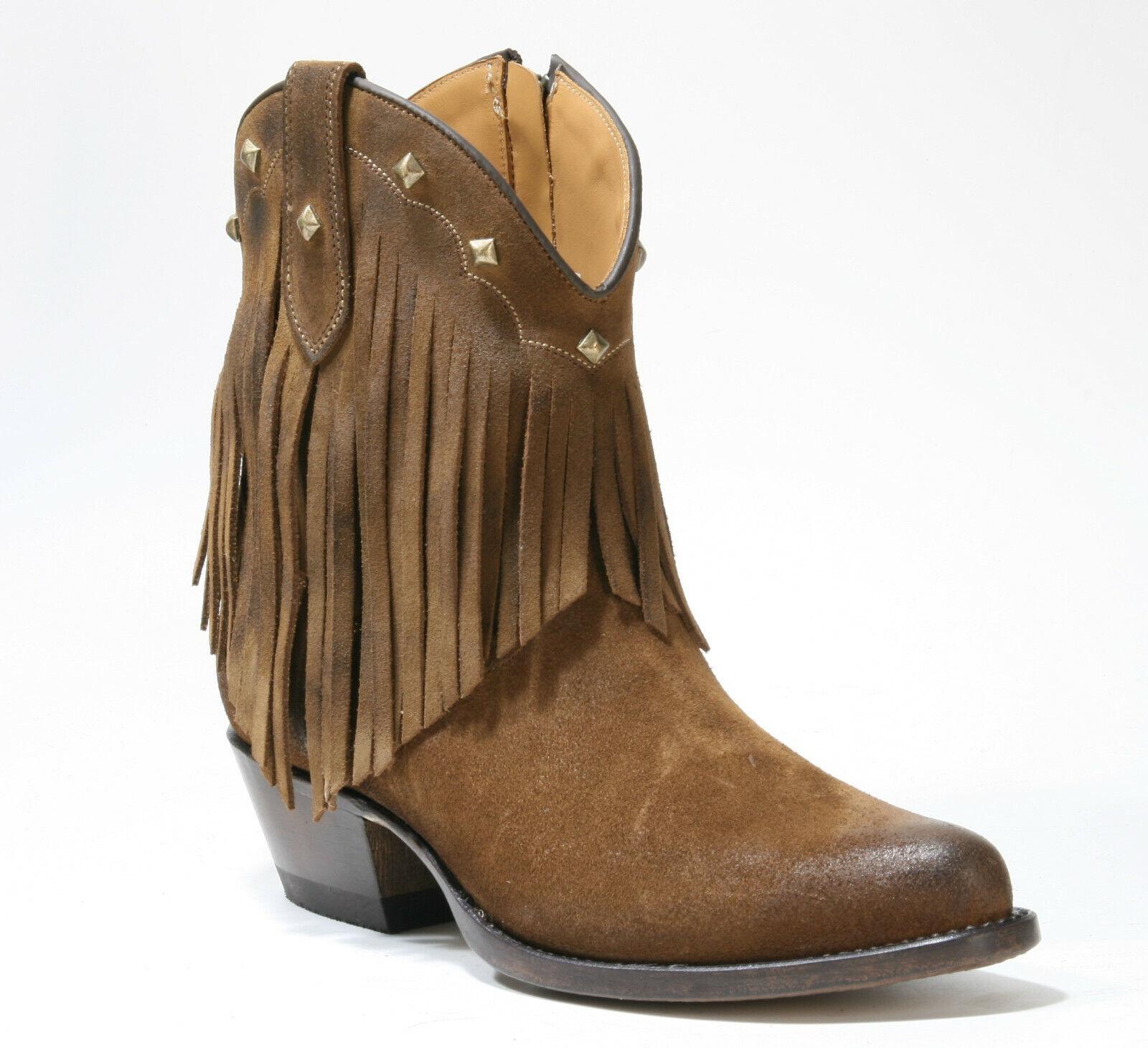 2374 Mayura flecos botas Atenea marrón tabaco botas de vaquero