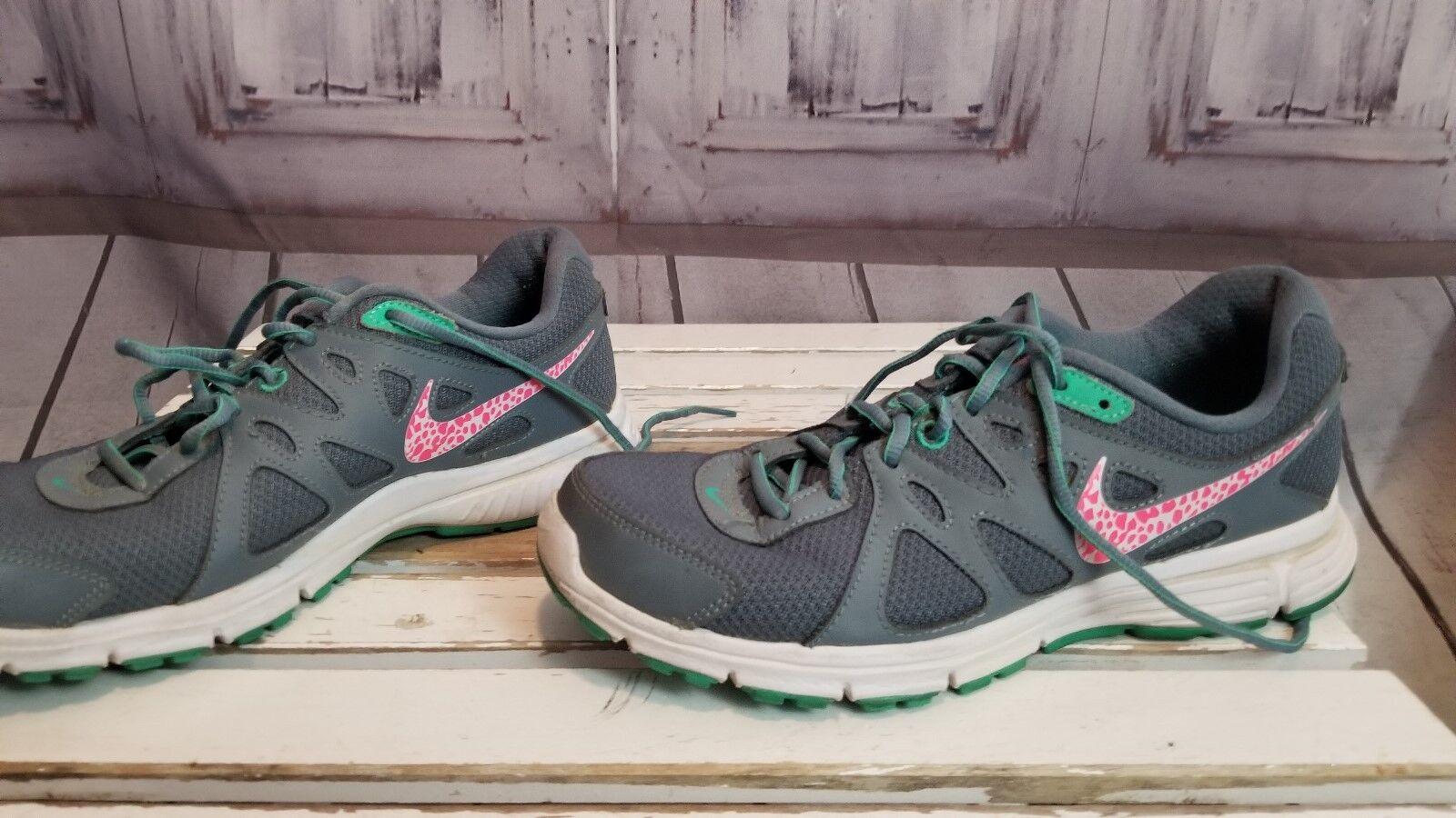 Nike women running 2015 tennis shoe 2015 running 8 gray pink tennis walking trail athletic 198a76