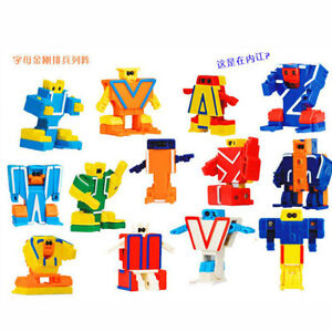 26 Pieces BOX ABC Robot Alpha bots Alphabet Toy Kids Baby Study Education Gift