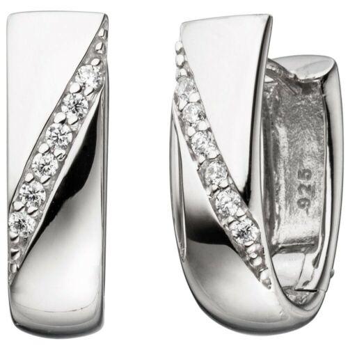 925 plata brillante Creolen klappcreolen aretes de plata aretes circonitas