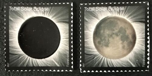 TOTAL SOLAR ECLIPSE IMAGE CHANGES WITH HEAT OF YOUR TOUCH POSTAGE STAMP U.S