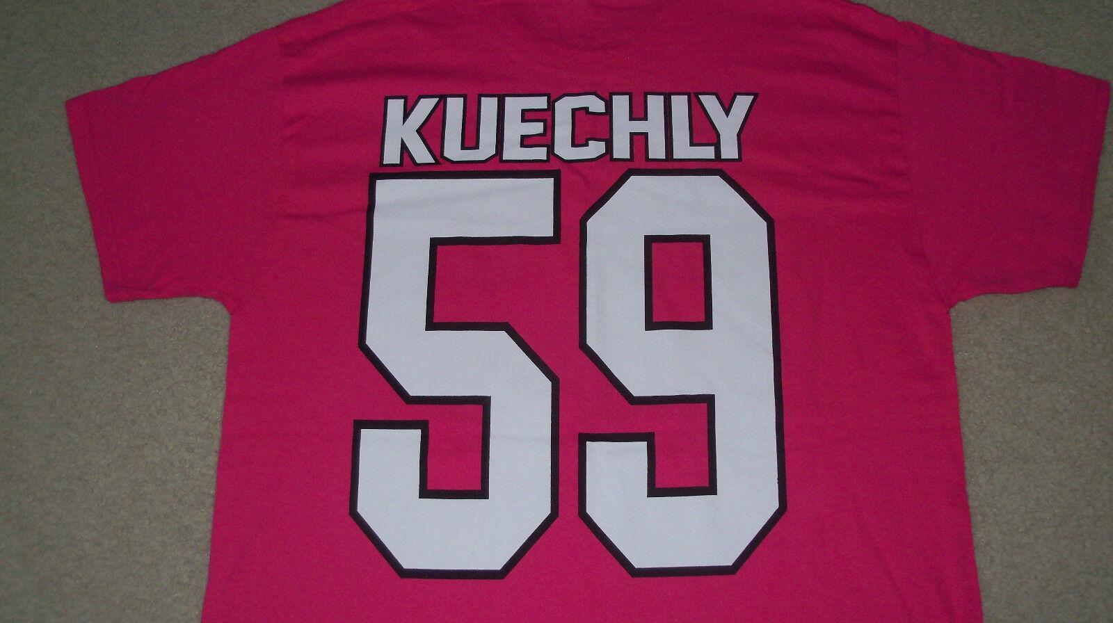 NWOT Pink LUKE KUECHLY #59 Jersey Shirt Carolina Panthers Breast Cancer Womens