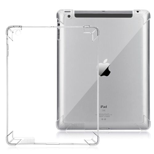 Clear Shockproof FlexibleTPU Skin Bumper Case Corner Airbag Protector All iPad
