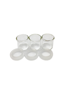 Glass Jar Straight Wall Snap Cap 1728 units 6 ml tiny container
