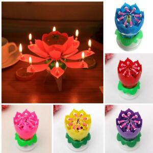 Image Is Loading Spinning Candle Birthday Music Rotating Flower Cake Topper
