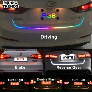 Car Tail Lights >> Details About Car Tail Brake Led Light Trunk Strip Rear Rgb Dynamic Streamer Back Stop Signal