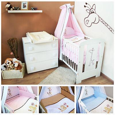 Komplett Set Babyzimmer Kinderzimmer Wickelkommode Babybett Ausstattung NEU