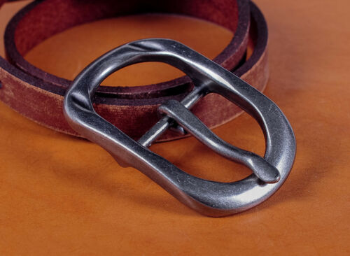 """Single Prong Silver Free Center Bar Replacement Mens Belt Buckle Fits 1/"""" Belts"""