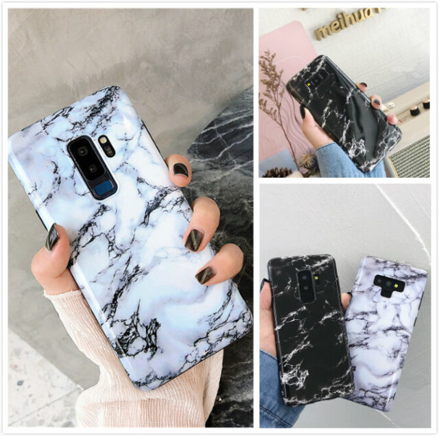low priced 935a2 e7ea8 For Samsung Galaxy S8 9 Plus Note Slim Fit Marble Case Protective Phone  Covers