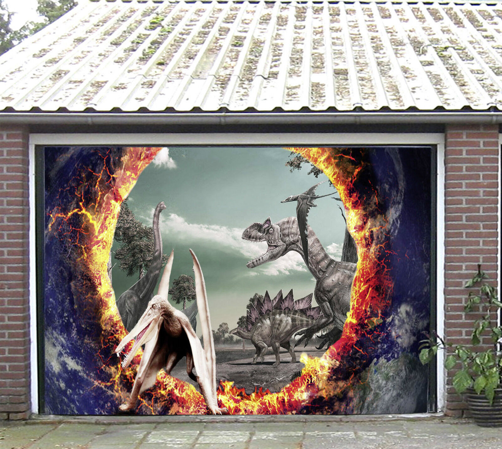 3D Dinosauro 506 Garage Porta Stampe Parete Decorazione Murale AJ WALLPAPER IT
