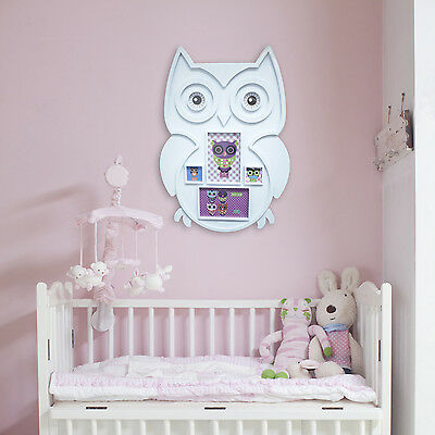 Wall Interior Deocration PVC Animal White Owl Photo Frame Children Home Art