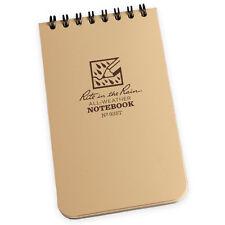 Rite In The Rain 946 Army Waterprooof Pocket Top Spiral Notebook Notepad 4x6 Tan