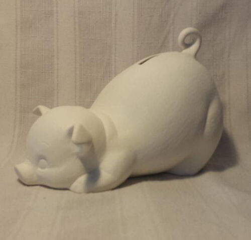 """Piggy Bank 8/"""" ready to paint ceramic bisque"""