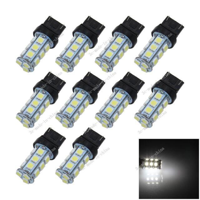 10X White 7443 7440 18 5050 SMD LED Brake Turn Signal Rear Light Bulb Lamp G003