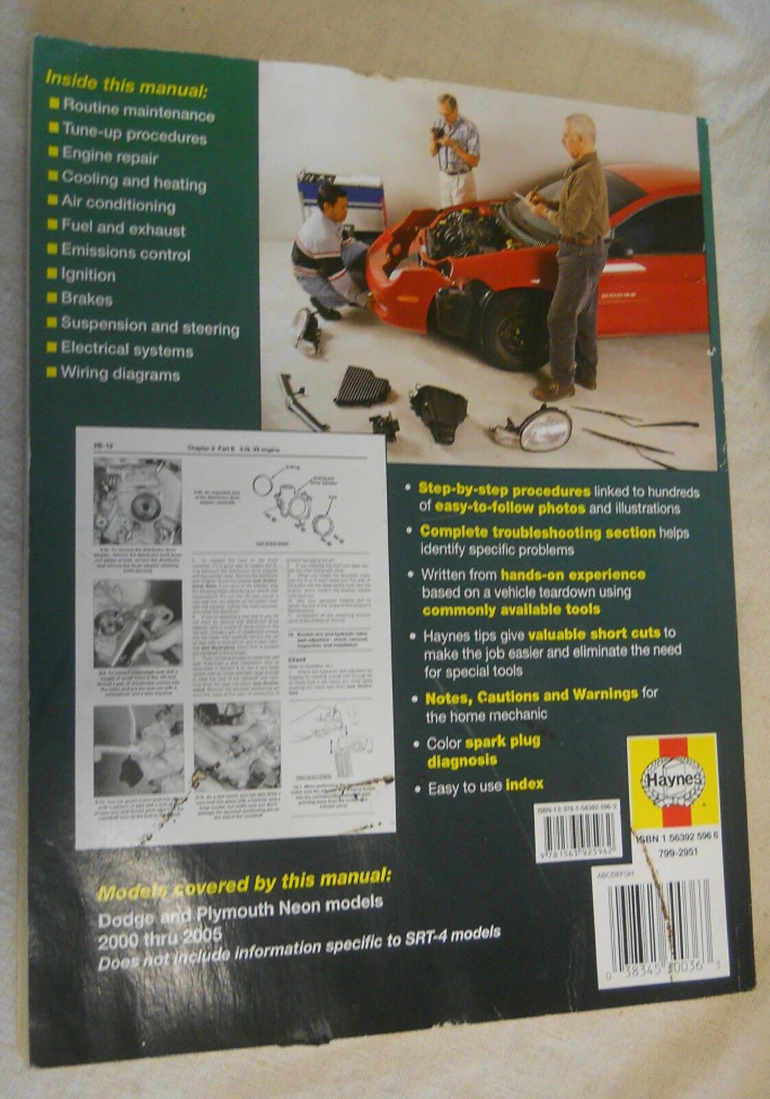 Dodge Plymouth Neon 2000 Thru 2005 Haynes Repair Manual 30036 Ebay Engine Cooling Diagram