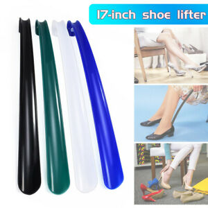 Newly-Long-Plastic-Handle-Shoe-Horn-Shoehorn-Shoe-Helper-Easy-Sturdy-Slip-Aid