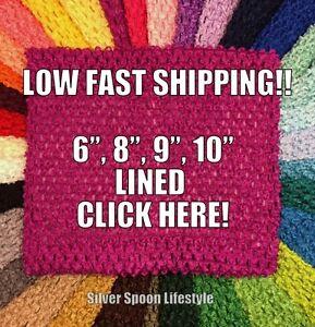 Magenta Crochet Tutu Tube Top 6 8 9 10 Lined Tutu Tops Usa