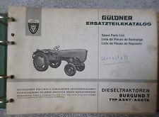 Güldner Burgund T Schlepper A3KT / A3KTA Ersatzteiltatalog