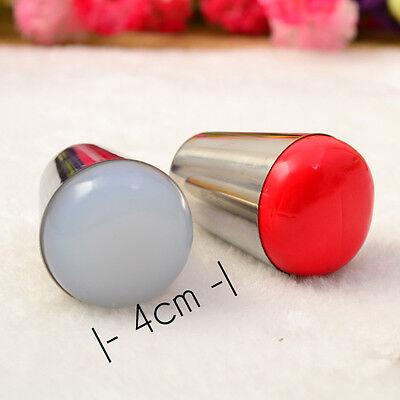 4cm 2 Farbe Nail Art Schablonen Stempel  Stamper für Nail art Stamping