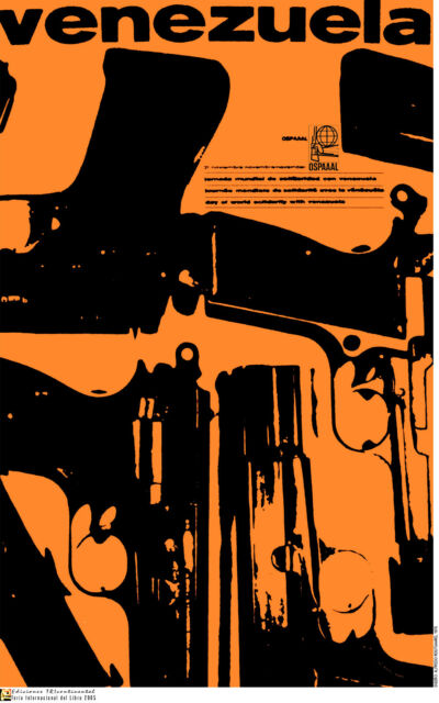 Political POSTER.Venezuela Guns.Hugo Chavez.Cold War Revolution History art.am18