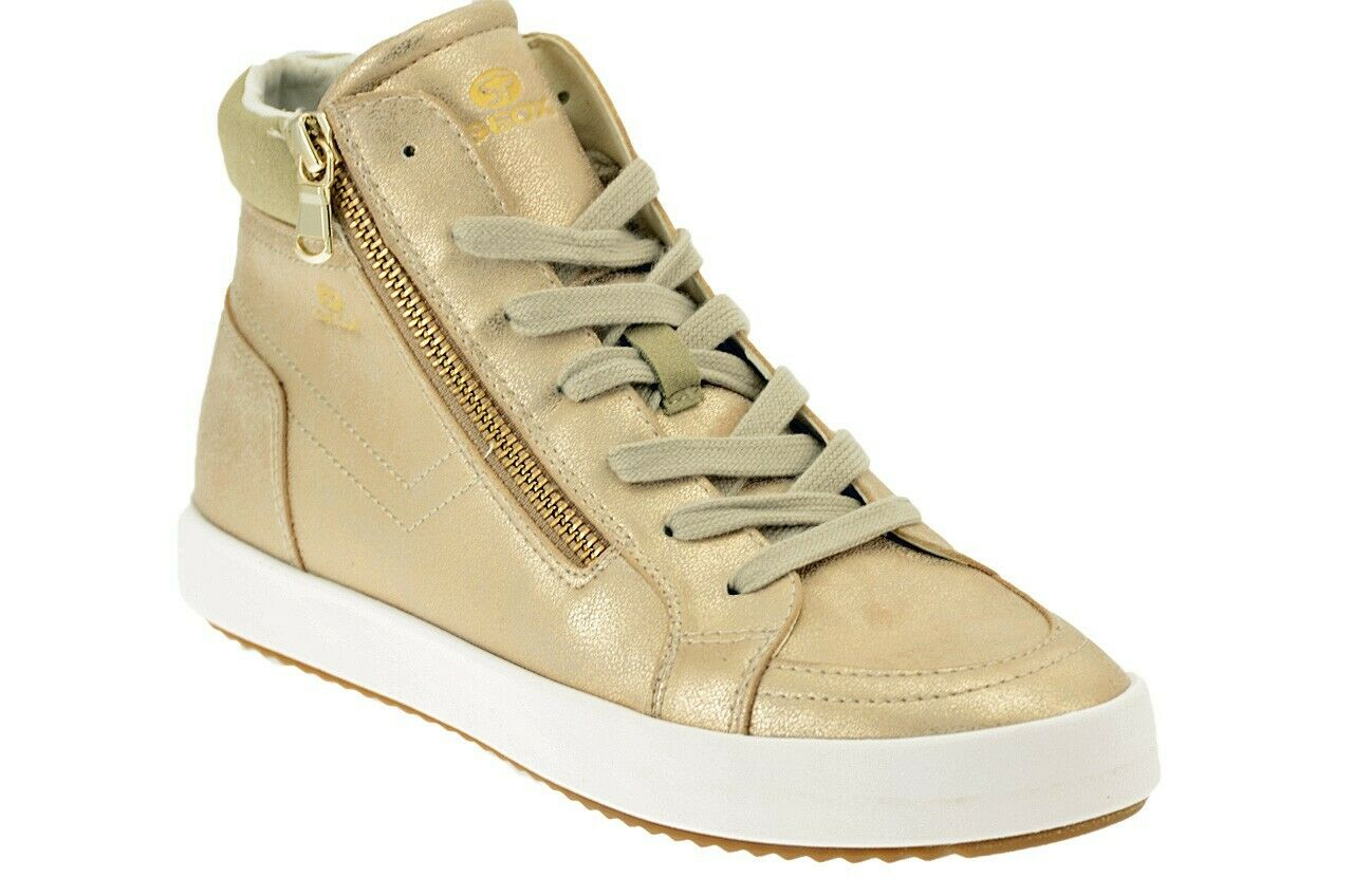 SCARPE Geox BLOMIEE scarpe da ginnastica Nuove oro56806 SCARPE FASHION DONNA