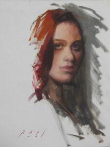 FEMALE-PORTRAIT-11x14-Contemporary-Realism-Figurative-Oil-PAINTING-MODERN-ART