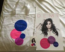 Demi Lovato New Rare VIP Bundle Poster, Laminate, Bag The Neon Lights Tour 2014